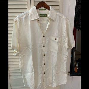 Orvis Antique White Short Sleeve Shirt